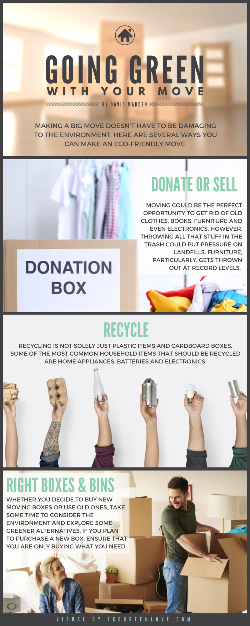 Going Green with your Move [Infographic]   ecogreenlove