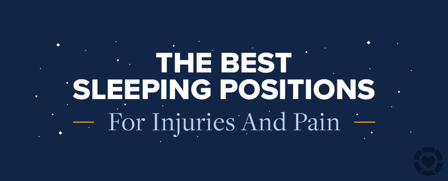 Best Sleeping Positions for Pain and Injuries [Infographic] | ecogreenlove