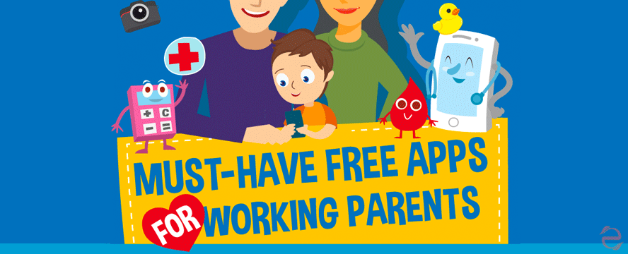 Must-Have Free Apps For Working Parents [Infographic] | ecogreenlove