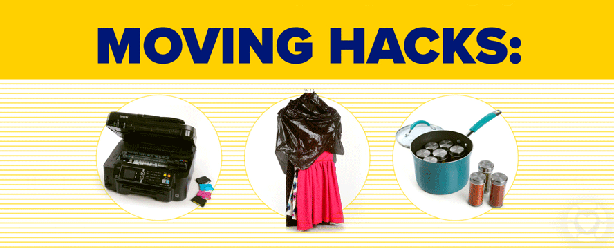 50 House Moving Hacks [Infographics]