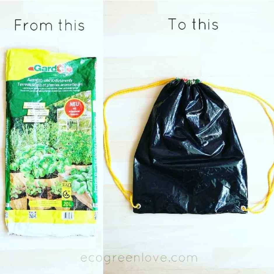 DIM: Upcycled Gym bag | ecogreenlove