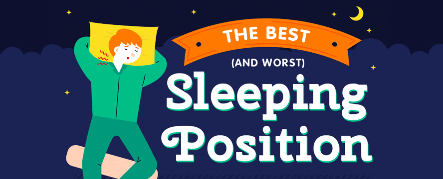 The Best (and Worst) Sleeping Positions [Infographic] | ecogreenlove