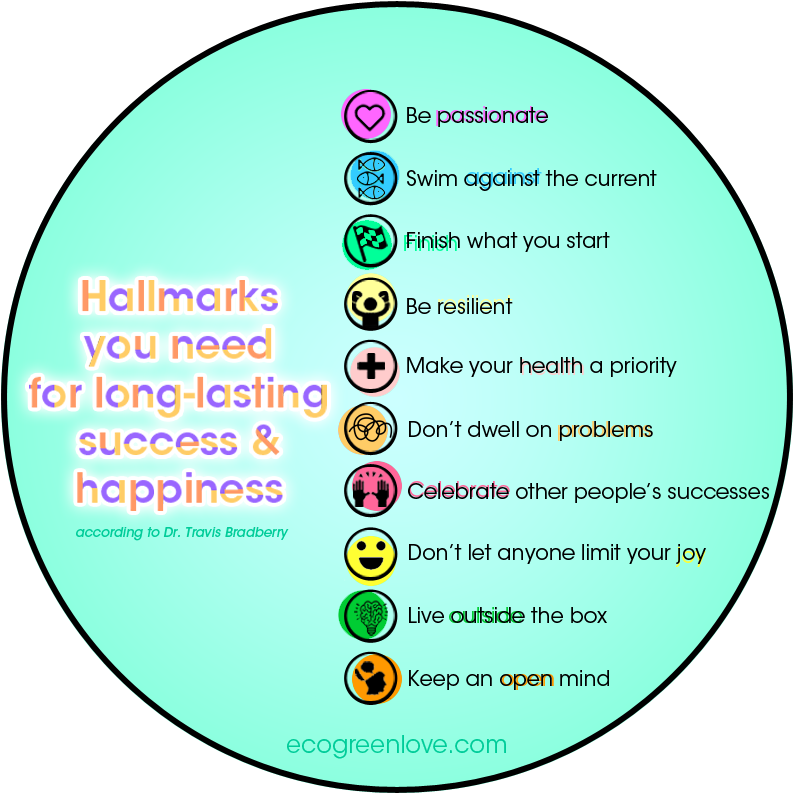 Keys to be Successful and Happy for a long-term [Visual]   ecogreenlove