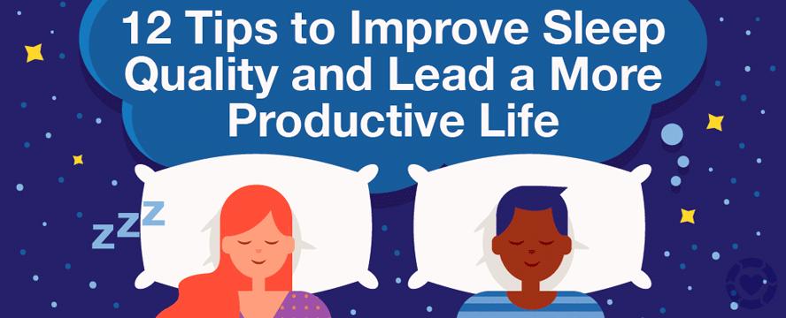 Sleep Quality Hacks [Infographic]   ecogreenlove