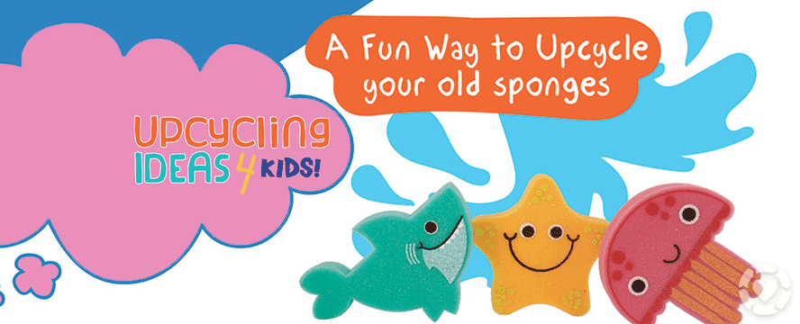 Upcycling old Sponges with your Kids [Infographic] | ecogreenlove