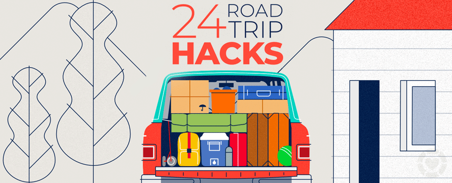 Road trip Hacks [Infographic] | ecogreenlove