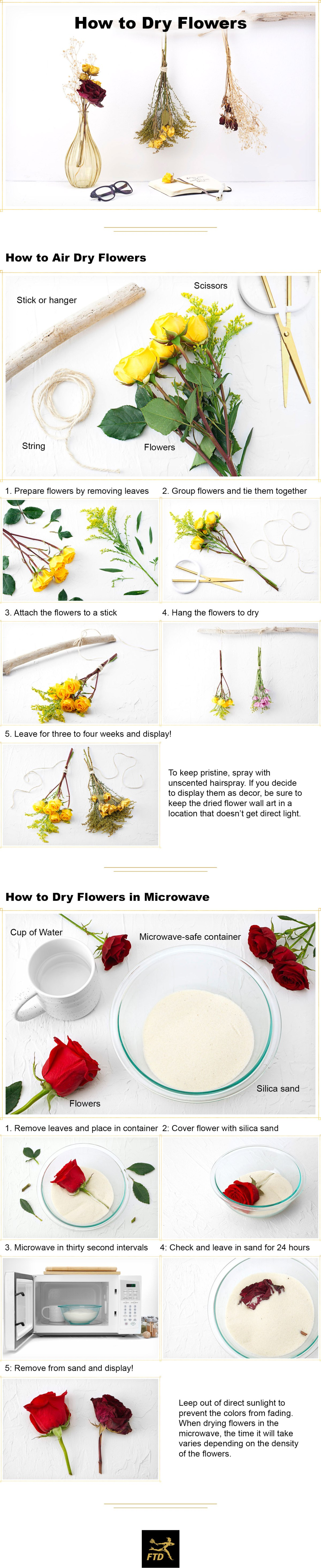 How to Dry Flowers: 2 Simple Ways + Decor Ideas [Visuals] | ecogreenlove