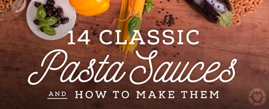 Classic Pasta Sauces and how to make them [Infographic] | ecogreenlove