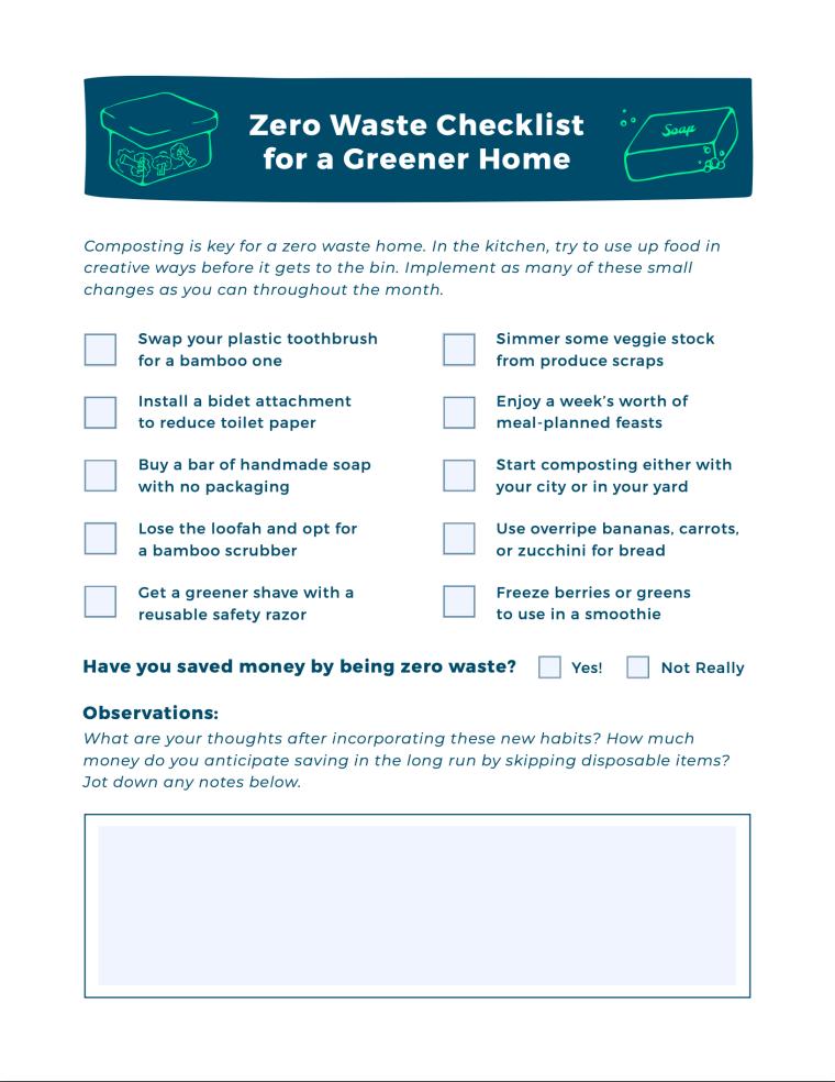 Zero Waste for a Greener Home [Checklist] | ecogreenlove