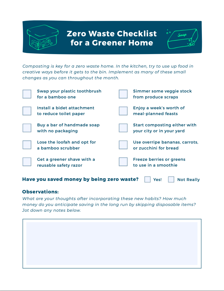 Zero Waste for a Greener Home [Checklist] | ecogreenlove