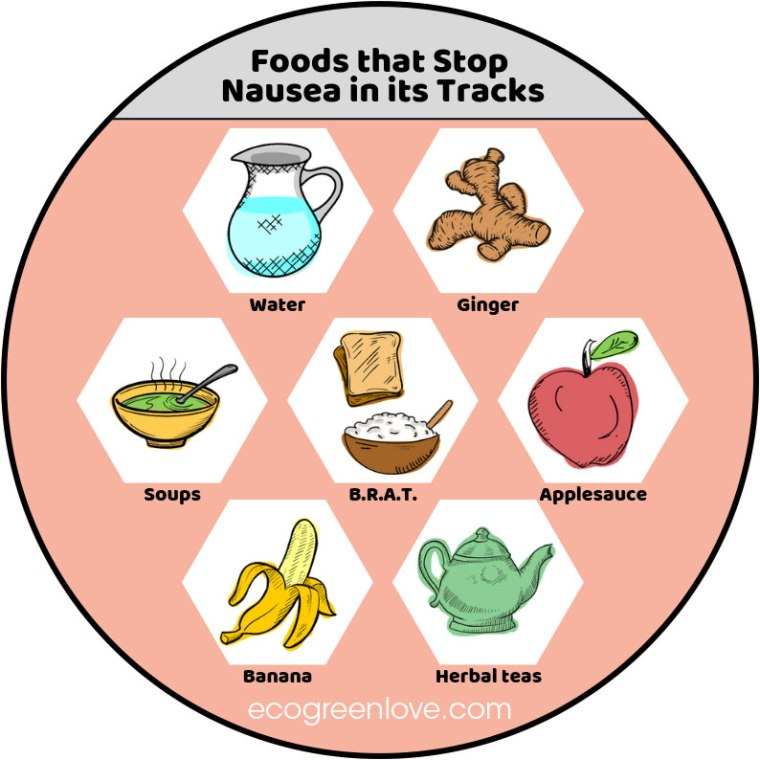 Foods that Stop Nausea [Infographic] | ecogreenlove