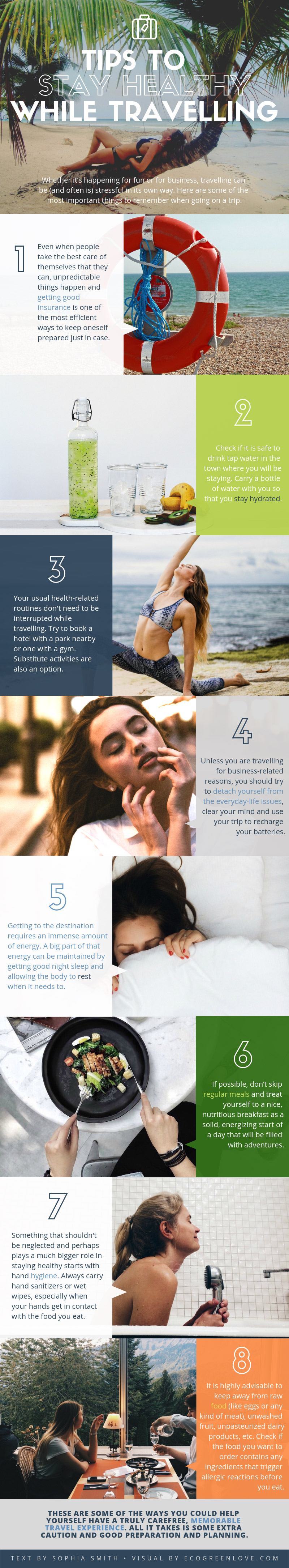 Essential tips for staying Healthy while Travelling [Infographic] | ecogreenlove