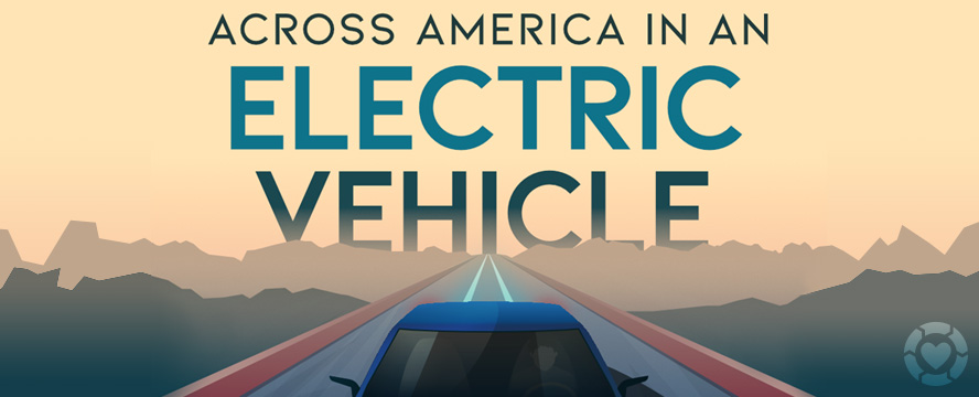 Across USA in an Electric Vehicle [Infographic]