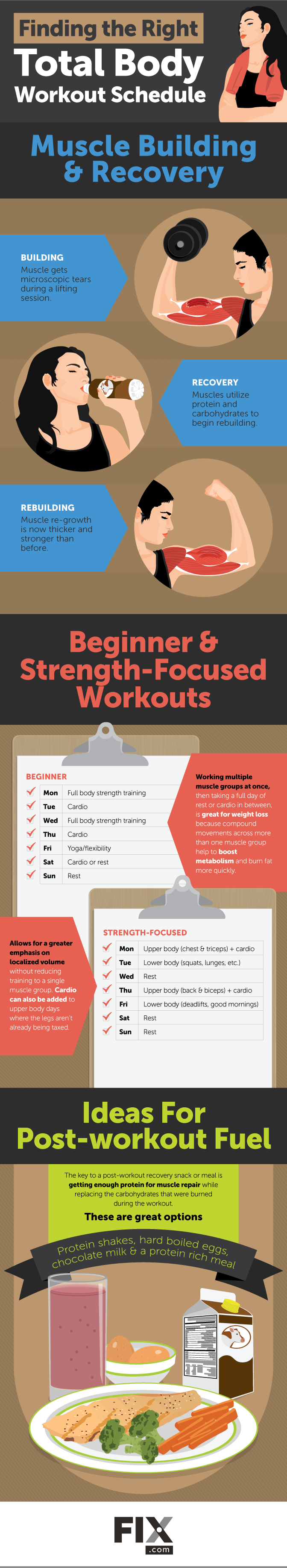 Schedule & Balance your Full Body Workout + Recovery [Infographic]   ecogreenlove