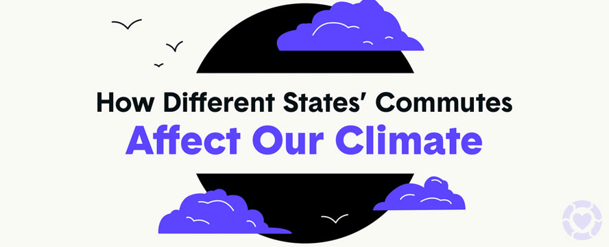 How different States' Commutes affect our Climate (USA) [Infographic] | ecogreenlove