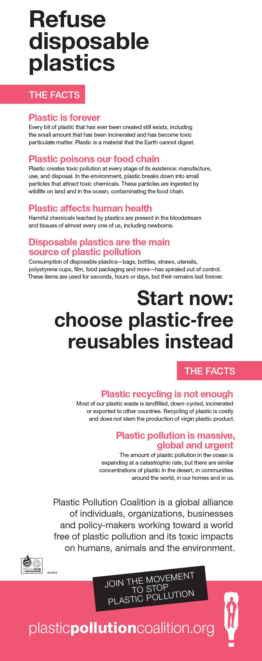 Refuse disposable Plastics [Infographic] | ecogreenlove
