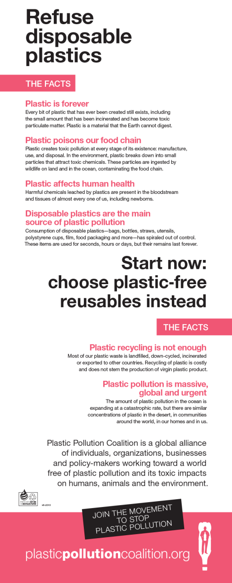 Refuse disposable Plastics [Infographic] | ecogreenlove