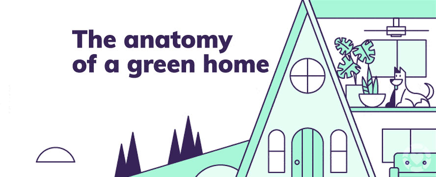 The anatomy of a Green Home [Infographic] | ecogreenlove