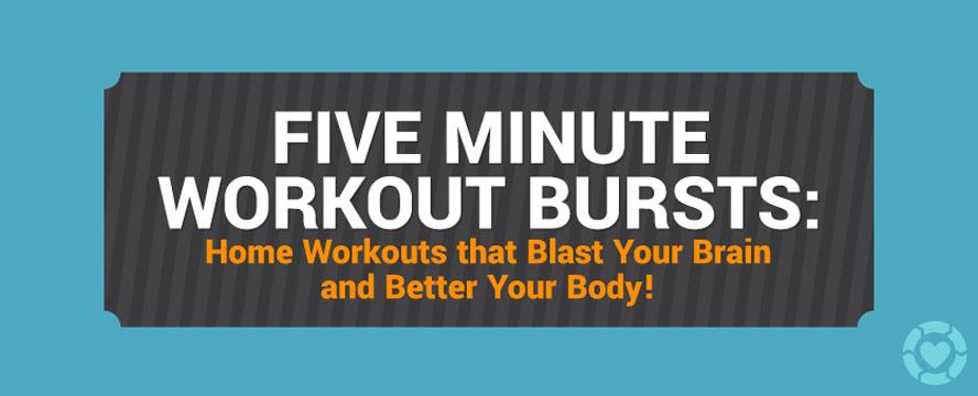 5 Minute Workout Bursts [Visual]   ecogreenlove