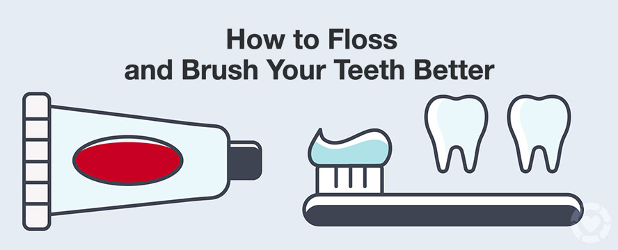 How to Floss and Brush your Teeth for a better Dental Care [Visual] | ecogreenlove