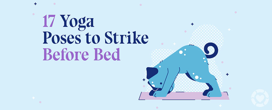 Yoga Poses for better Sleep [Visual]