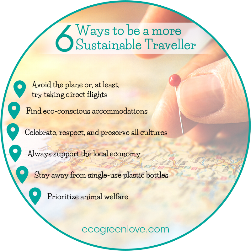 6 Ways to be a more Sustainable Traveller | ecogreenlove