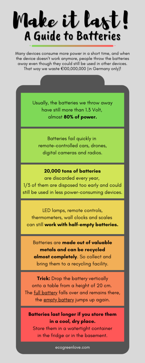 A Guide to Batteries [Visual] | ecogreenlove