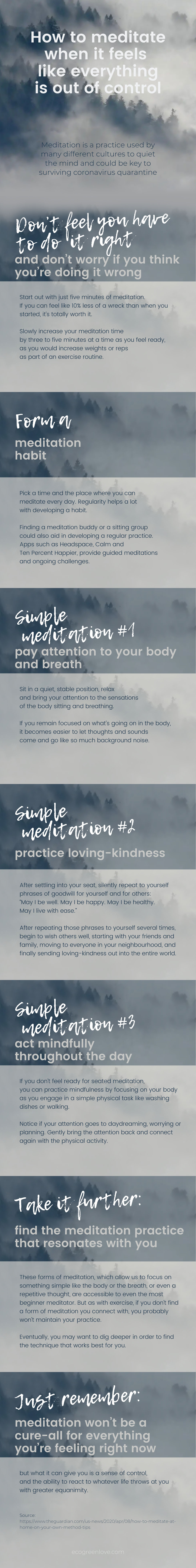 How to meditate when it feels like everything is out of control [Visual]   ecogreenlove