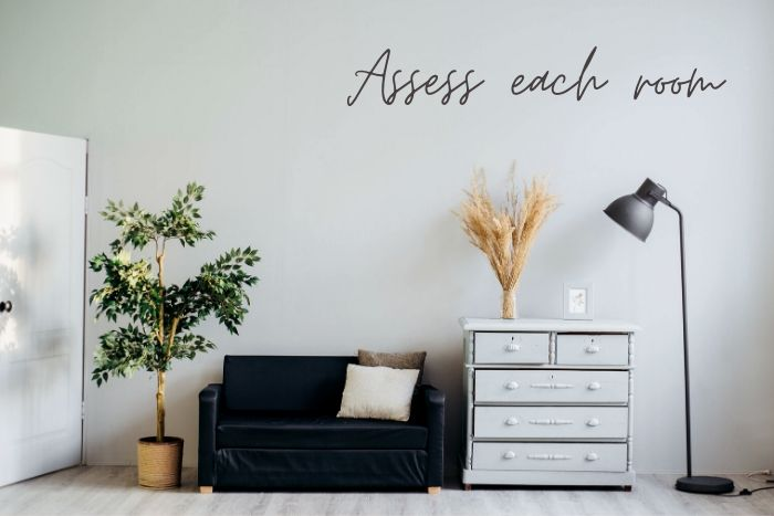 How to afford to Be Eco-Friendly while you're Stuck at Home • Assess each room | ecogreenlove
