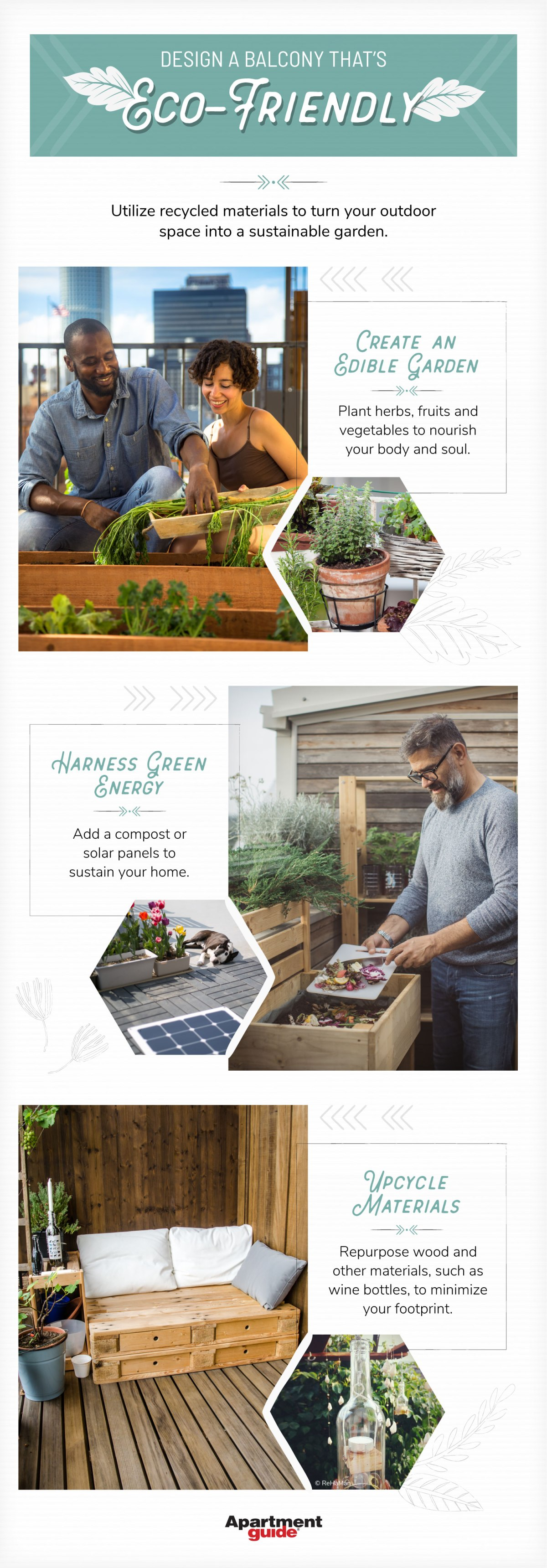 Ways to Construct an Eco-Friendly Balcony Garden [Visual] | ecogreenlove