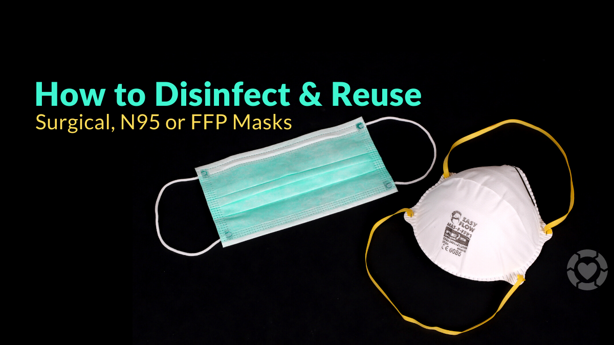 How to Disinfect & Reuse a Surgical Mask, N95 or FFP Respirators [Visuals]
