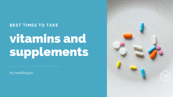 The best times to take vitamins and supplements [Visual] | ecogreenlove