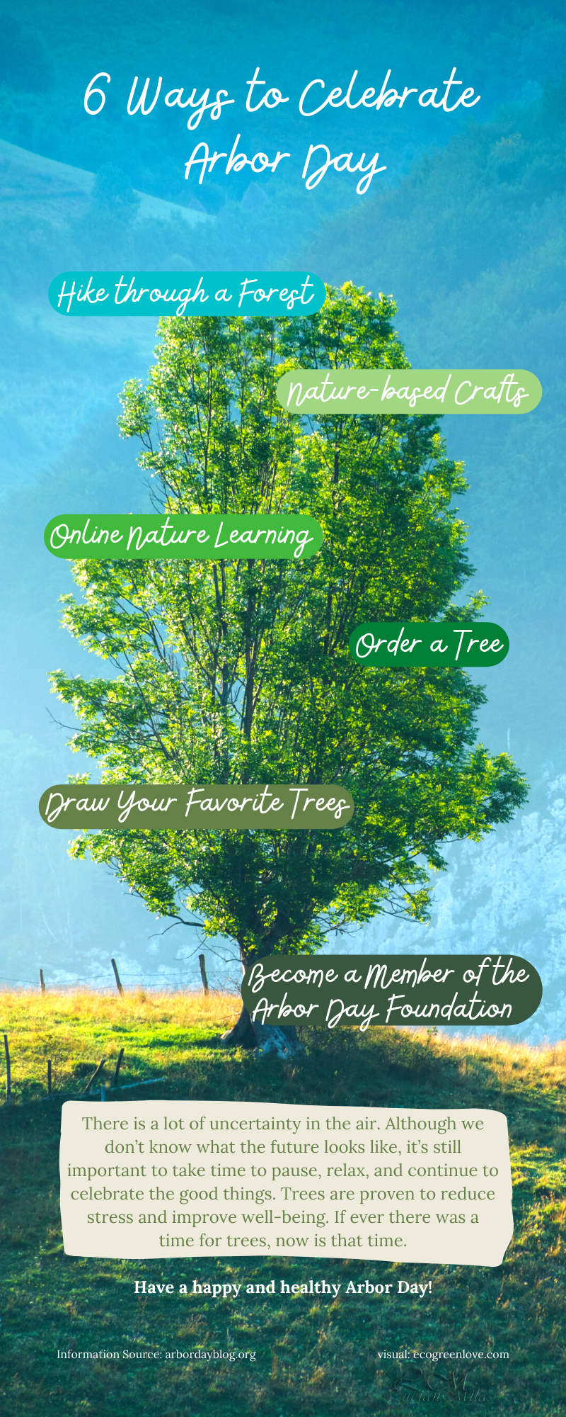 6 Ways to Celebrate Arbor Day | ecogreenlove