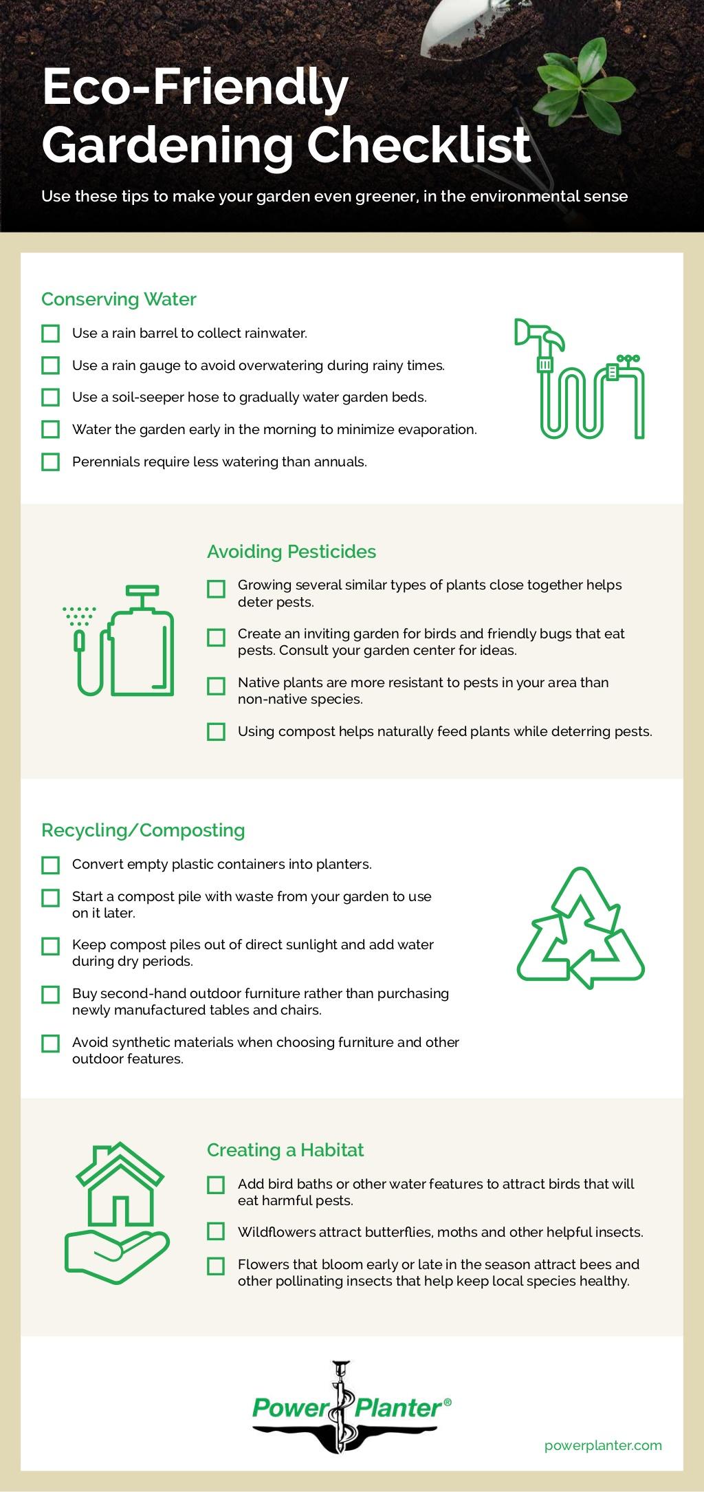 Eco-Friendly Gardening Checklist [Infographic] | ecogreenlove