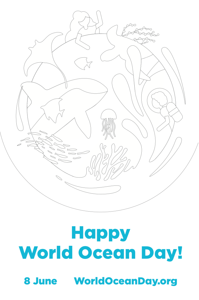 World Ocean Day [colouring page] | ecogreenlove