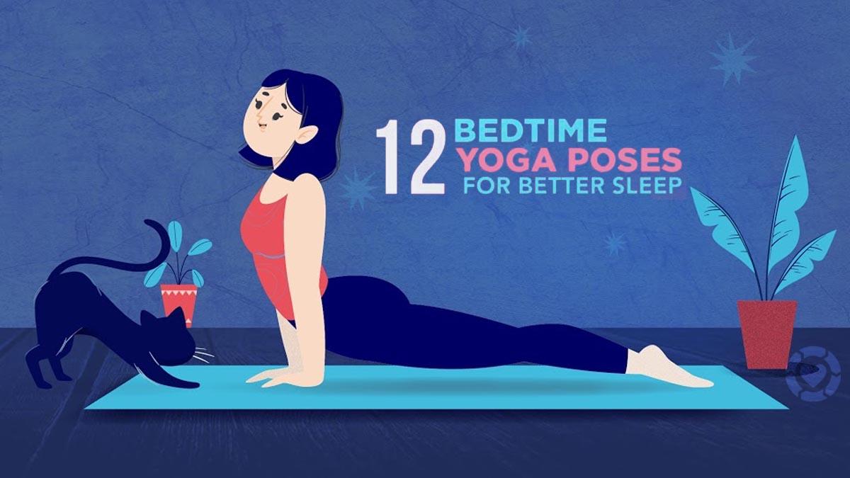 12 Bedtime Yoga poses for better Sleep [Visual]   ecogreenlove