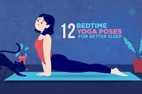 12 Bedtime Yoga poses for better Sleep [Visual] | ecogreenlove