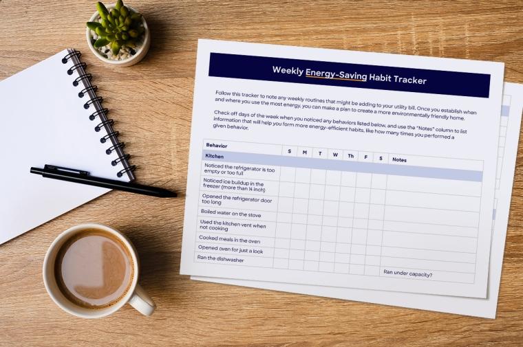 Energy Saving Habit Tracking at Home [Free Download] | ecogreenlove