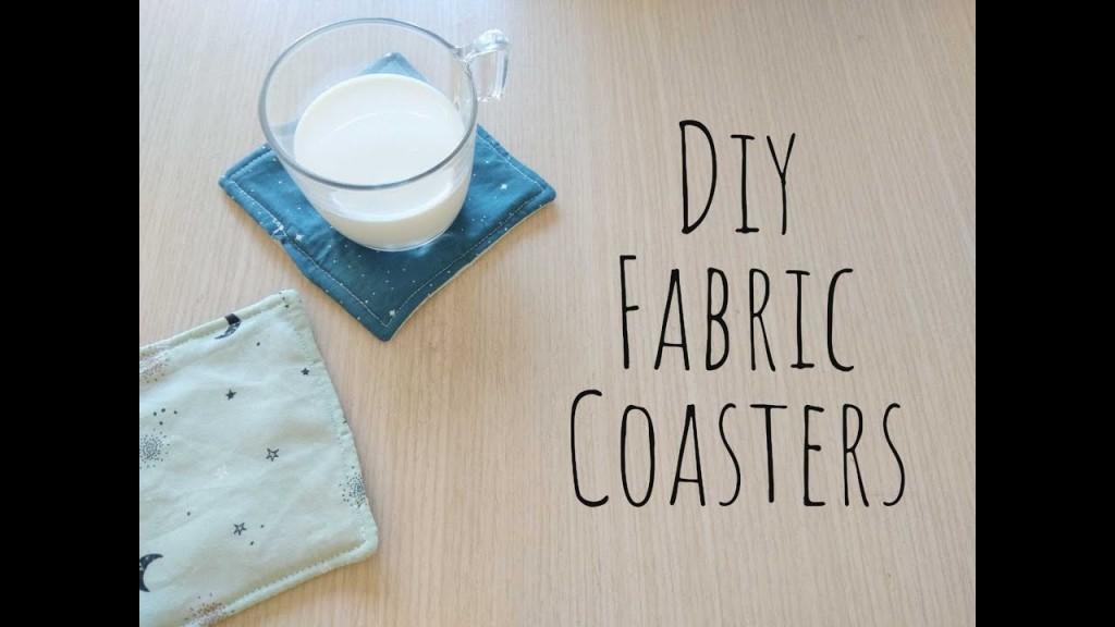 Repurpose Fabric Scraps • Coaster | ecogreenlove