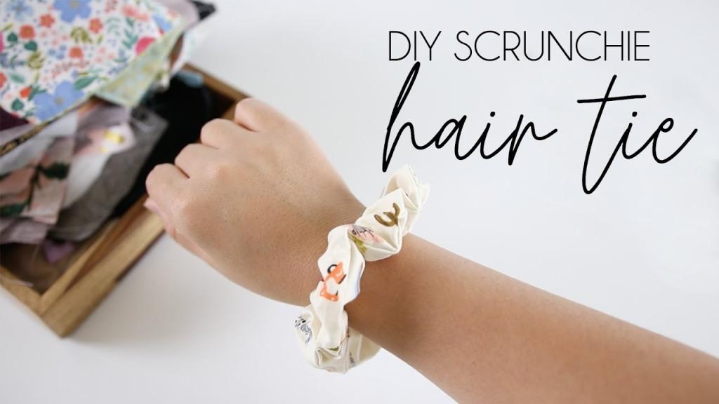 Repurpose Fabric Scraps • Scrunchie | ecogreenlove